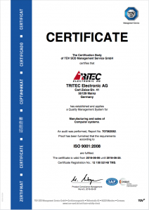 ISO 9001:2008 Certificate valid 2018-06-25