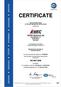 ISO 9001:2008 Certificate valid 2018-06-25